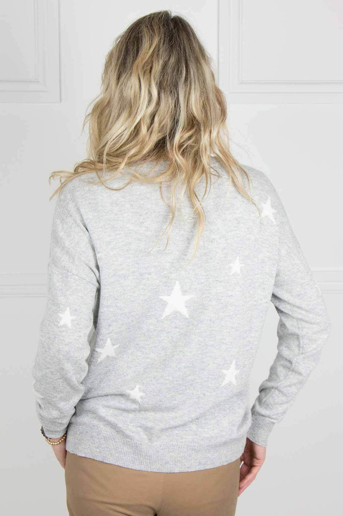 Grey and Ivory Star Pullover - desray.co.za