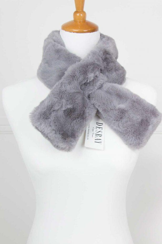 Grey Fur Neck Tie - desray.co.za