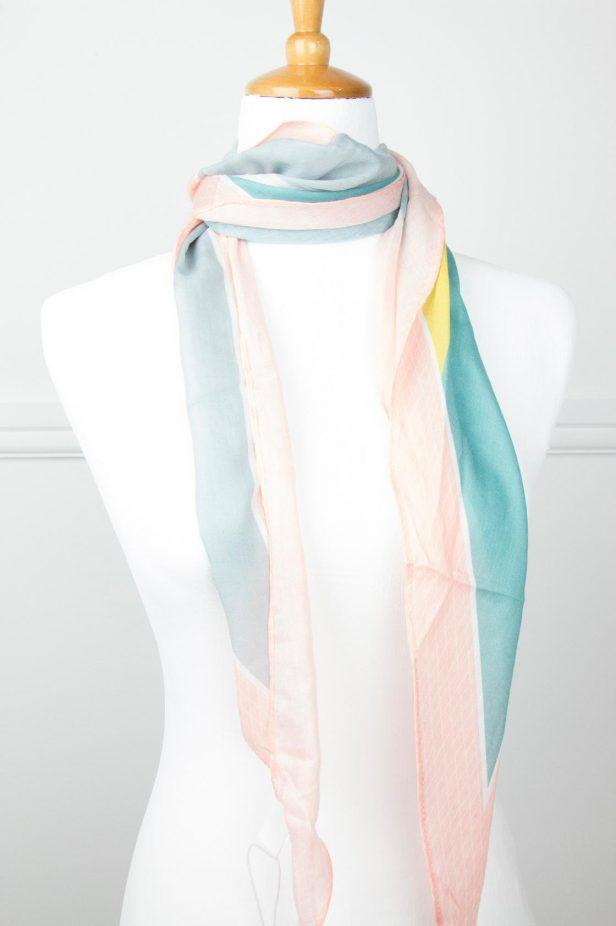 Multi Colour Neck tie Scarf - desray.co.za