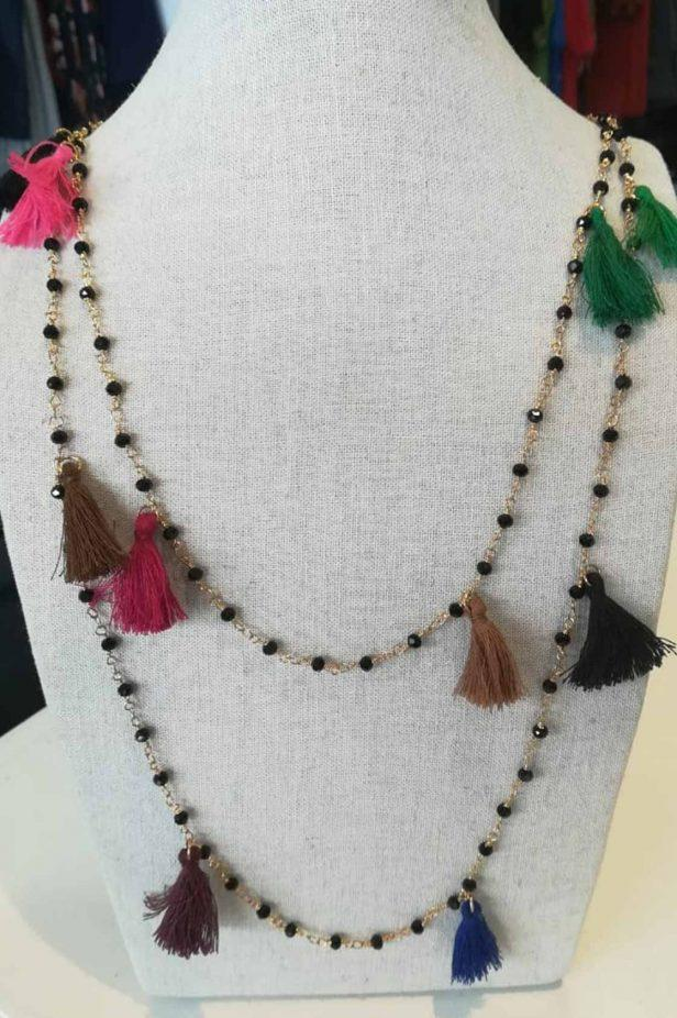 Multicolour Long Tassel Necklace - desray.co.za