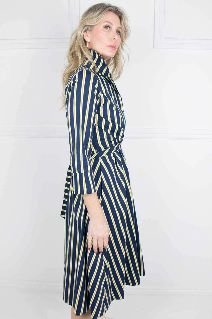Navy and Lime Hermanus Dress - desray.co.za