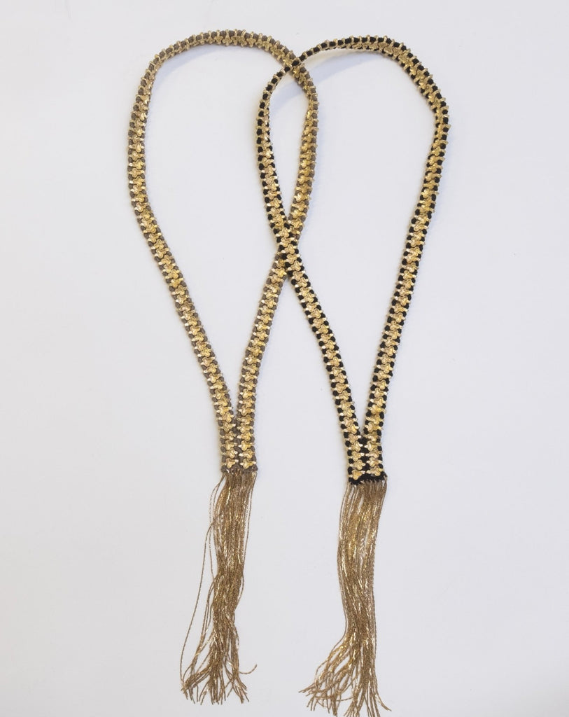 Blk/Gold Olive Clover Necklace - desray.co.za