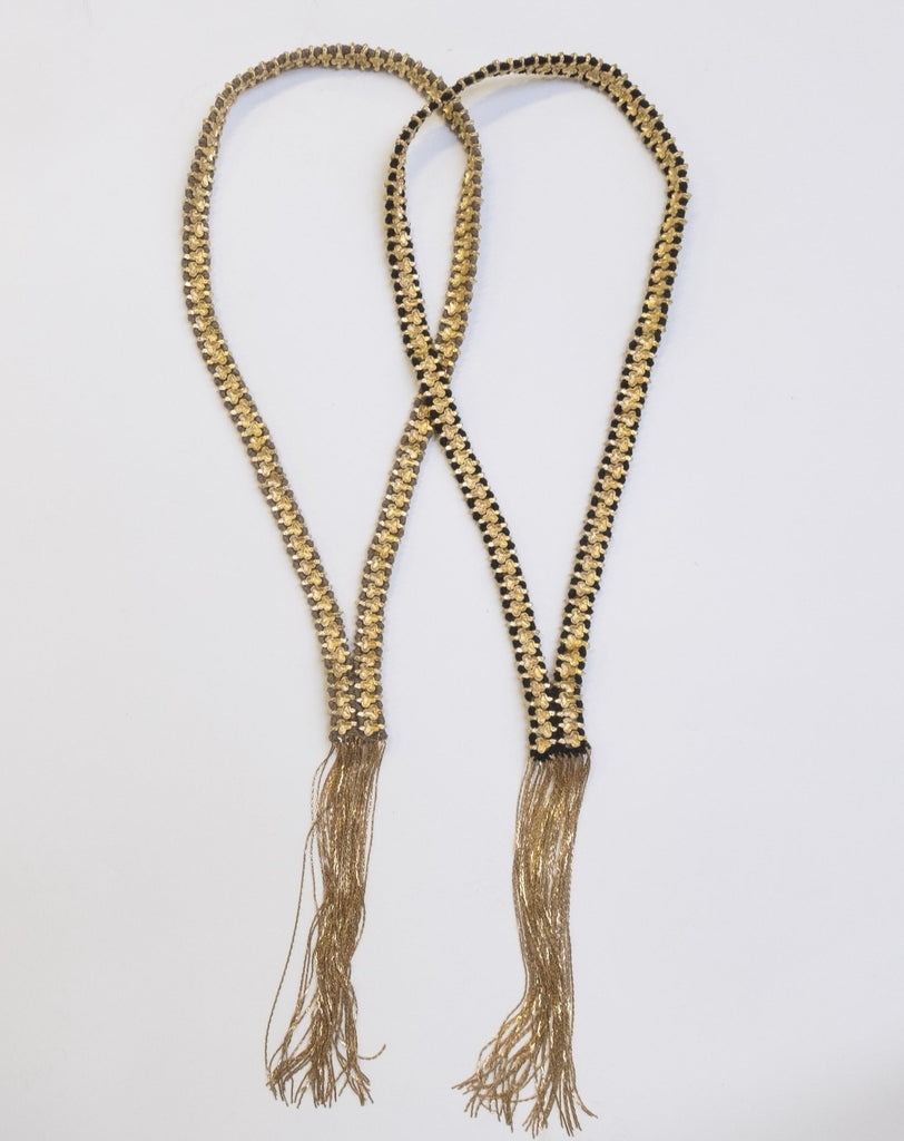 Taupe/Gold Olive Clover Necklace - desray.co.za