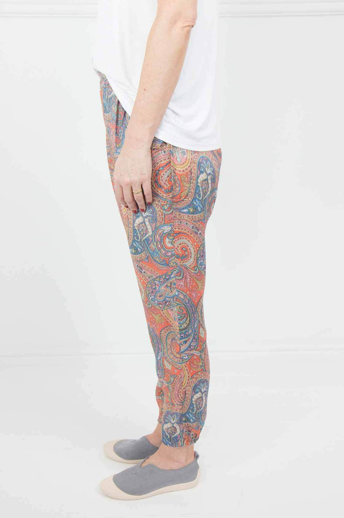 Orange Paisley Comfort Pants - desray.co.za