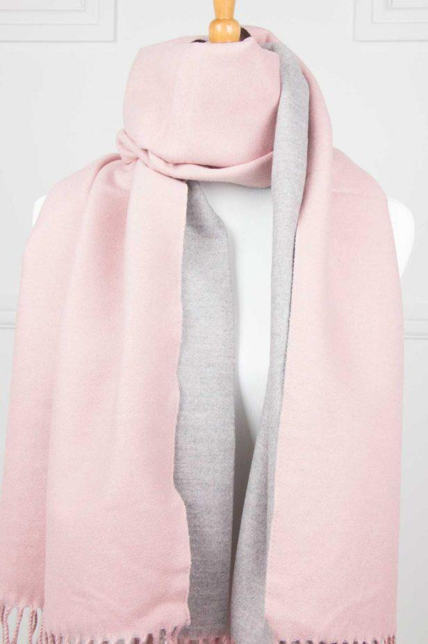 Pink Cashmere Touch Scarf - desray.co.za