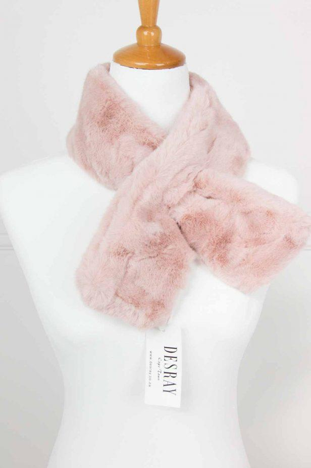 Pink Fur Neck Tie - desray.co.za
