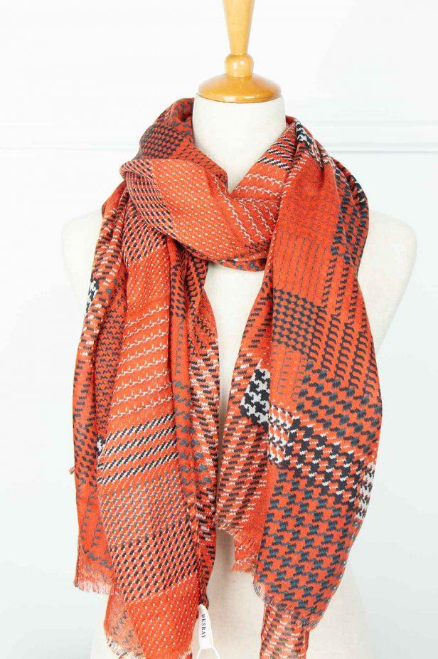 Red Tweed Scarf - desray.co.za