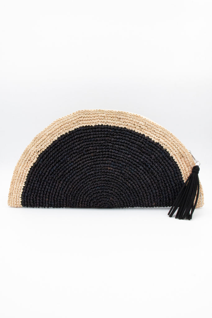 Clutch Crotchet Blk/Nat - desray.co.za