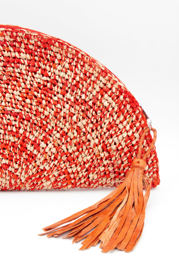 Clutch Crochet Orange - desray.co.za