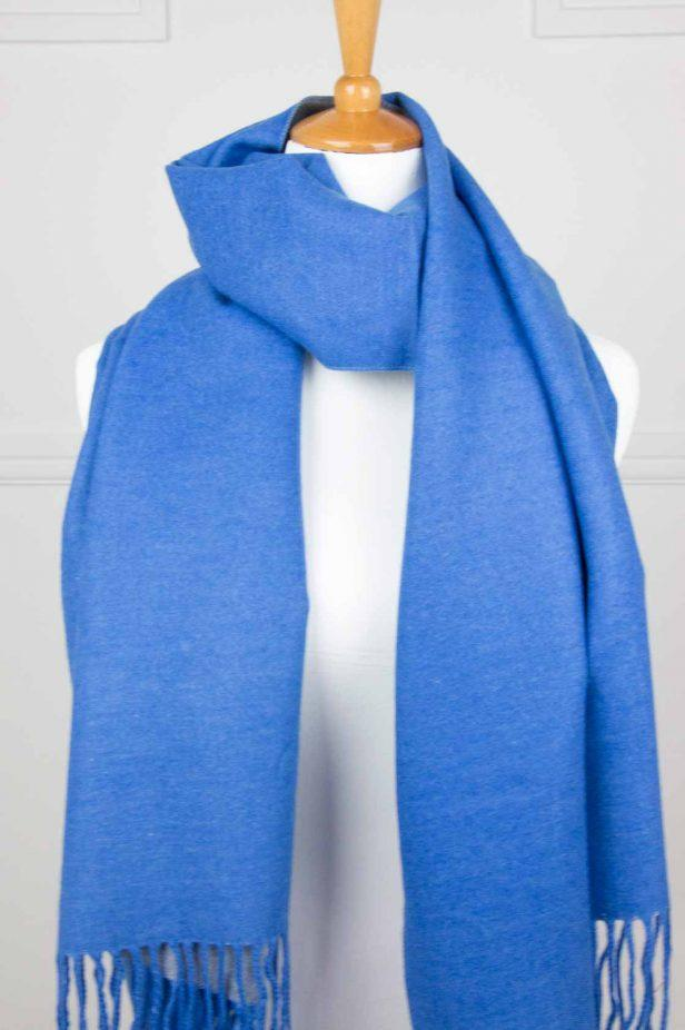 Royal Blue Cashmere Touch Scarf - desray.co.za