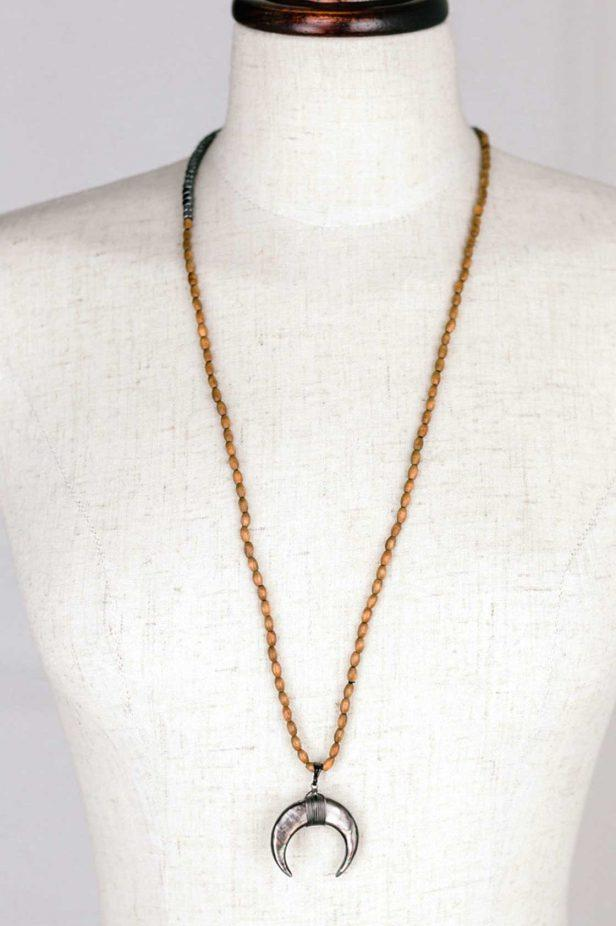 Semi Circle Horn Necklace - desray.co.za