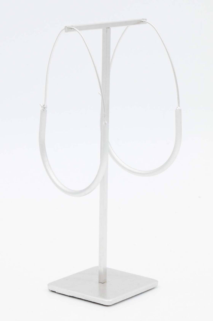 Silver Large Hoop Earrings - desray.co.za