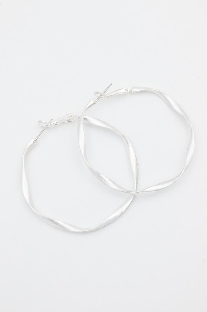 Silver Wobbly Hoops - desray.co.za