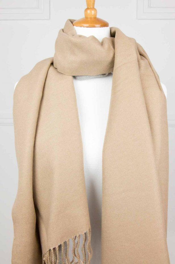 Tan Cashmere Touch Scarf - desray.co.za