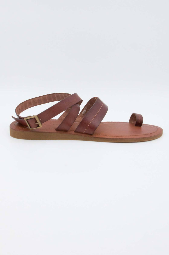 Tan Leather Sandals - desray.co.za