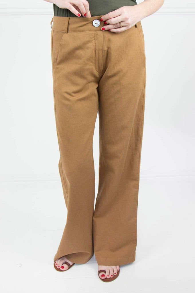 Tan Linen Pants - desray.co.za