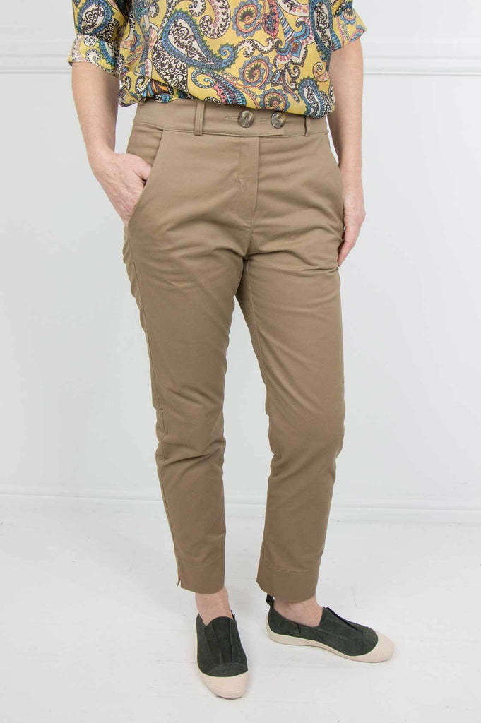 Tan Verna Pants - desray.co.za