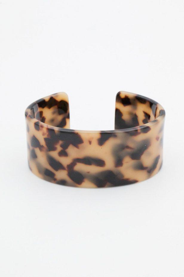 Tortoise Shell Broad Bangle - desray.co.za