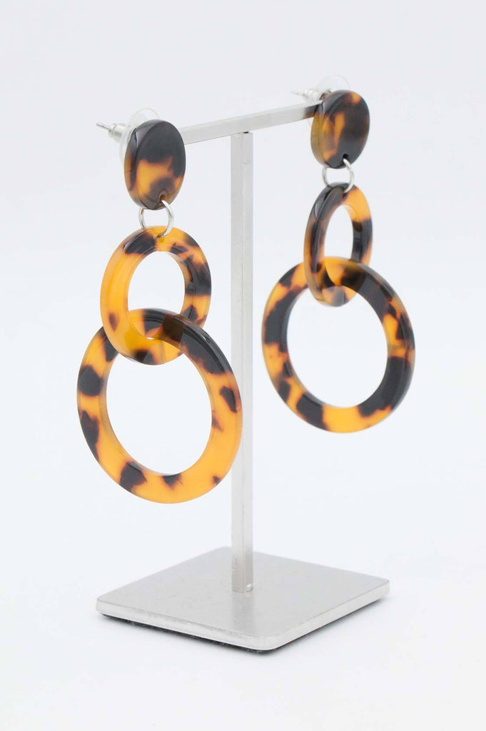 Tortoise Shell Hoop Earrings - desray.co.za