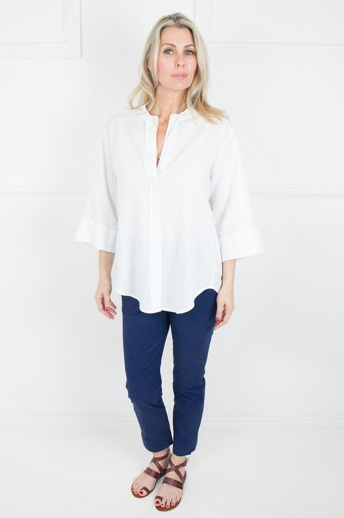 White Linen Tunic Shirt - desray.co.za