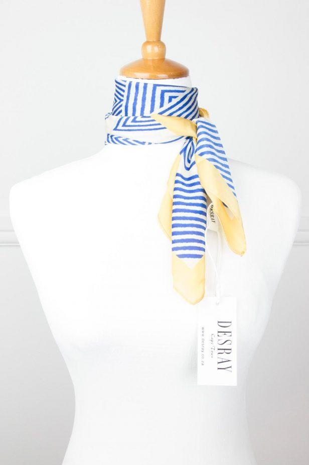 Yellow/Blue Shapes Neck Scarf - desray.co.za