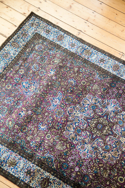 4x7 Silk Persian Antique Rug - Old New House
