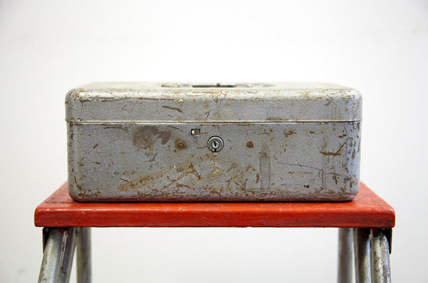 Gray Metal Tool Box