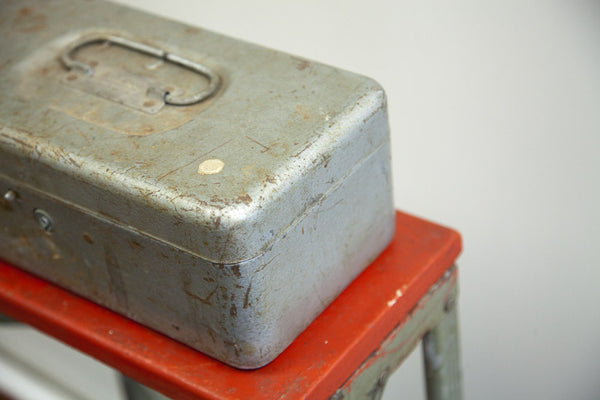 Gray Metal Tool Box - Old New House