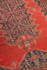 4x6 Antique Tomato Red Malayer Rug Onh Item 1128