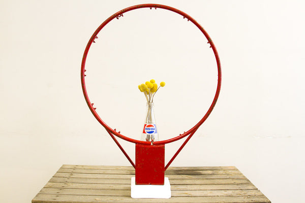 Basketball Hoop Industrial Accent