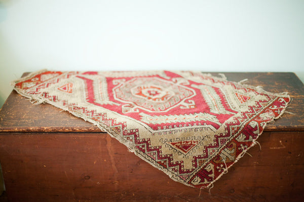 Tattered Antique Tribal Rug
