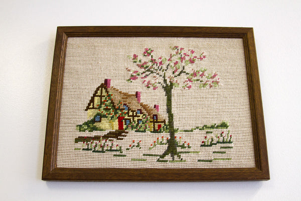 Cottage Needlepoint Art