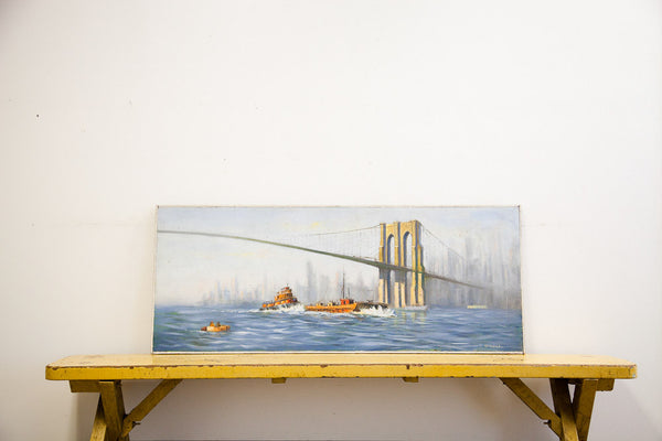 Brooklyn Bridge Painting - Old New House