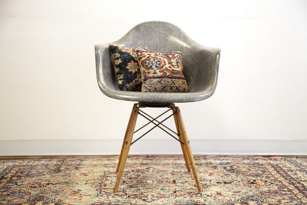 Rare Eames PAW Rope Edge Seng Swivel Chair in Elephant Grey - Old New House