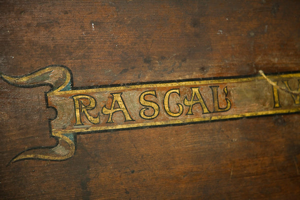 Antique Handpainted Rascal Trunk - Old New House
