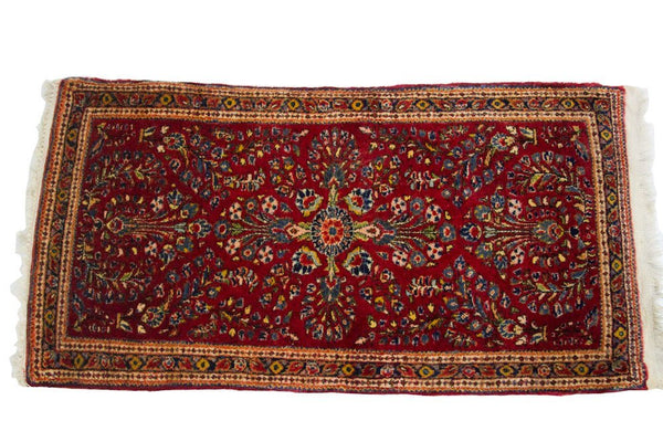 2x4 Dark Red Persian Sarouk Rug - Old New House