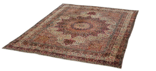 9x12 Antique Persian Kerman Room Size