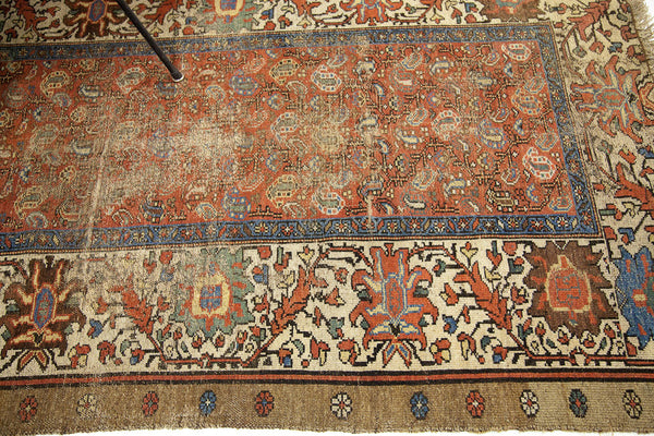 4x6 Worn Antique Persian Bakshaish Rug - Old New House