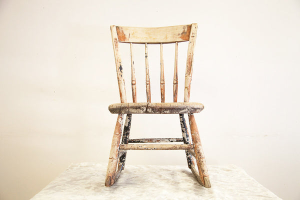 Antique Childrens Rocking Chair Primitive