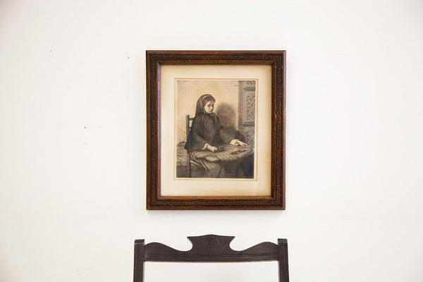 Antique Drawing Wooden Frame