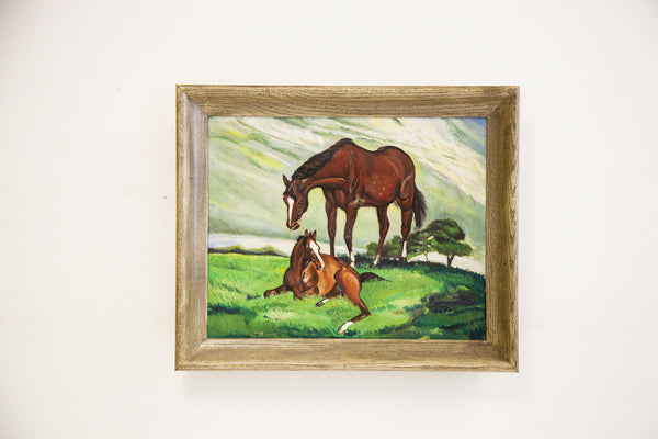 Signed Painting of Horses - Old New House