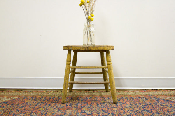 Rustic Stool Primitive Table - Old New House