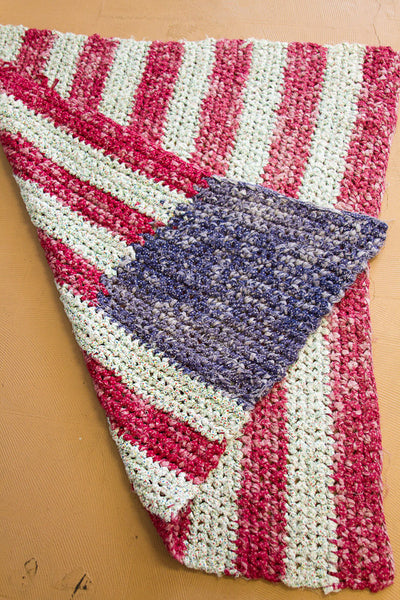 3x4 Folk Art American Flag - Old New House