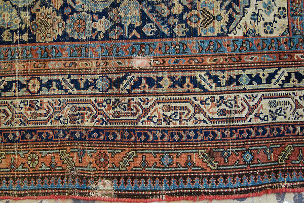 4x8 Antique Persian Rug Runner - Old New House