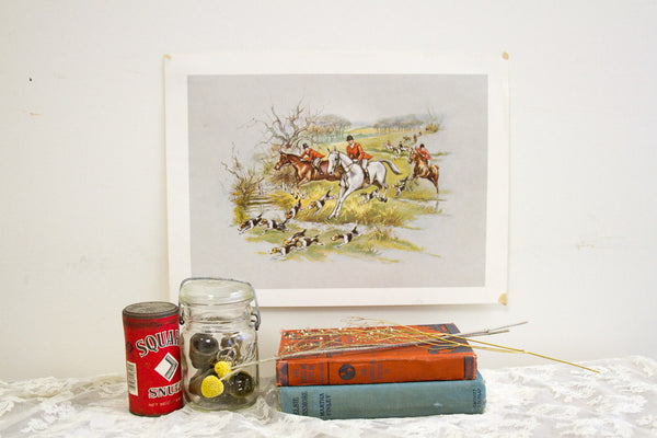 Equestrian Lithograph - Old New House