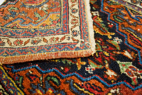 2x3 Colorful Persian Bijar - Old New House