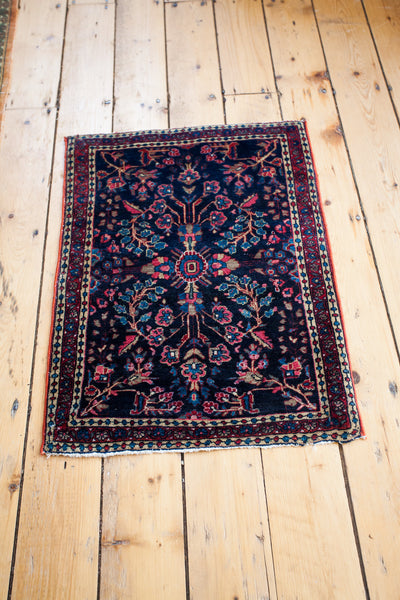 2x3 Blue Persian Sarouk Rug Mat - Old New House