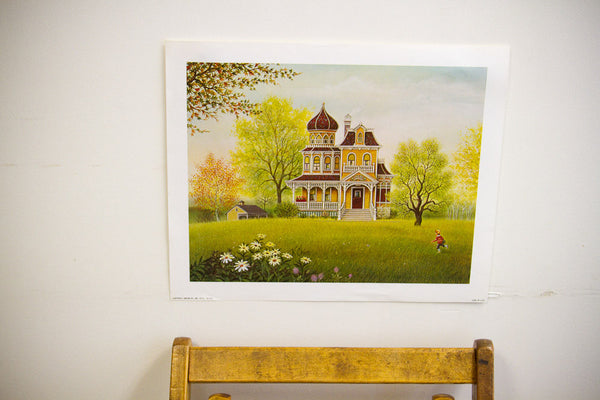 K Chin Lithograph Vivid - Old New House