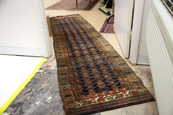 2.5x9 Persian Kurdish Rug Runner - Old New House