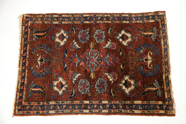 3x4 Vintage Burgundy Persian Rug - Old New House